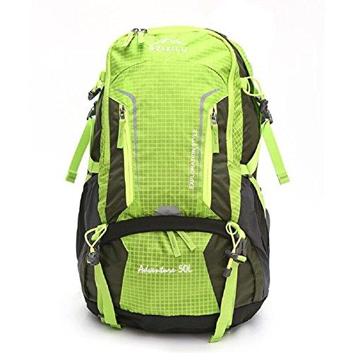 LJ&L Outdoor Nylon Klettern Rucksack, wasserdichte solide Verschleiß-resistent reißfeste hochwertige Reise-Tasche, Männer und Frauen universal, Mode Casual Schultertasche B