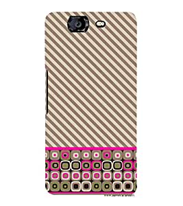 Fiobs Designer Back Case Cover for Micromax Canvas Knight A350 :: Micromax A350 Canvas Knight (Grey White Lines Multipattern )
