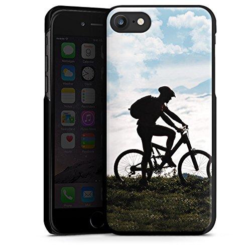 Apple iPhone X Silikon Hülle Case Schutzhülle Fahrrad Mountainbike Natur Hard Case schwarz