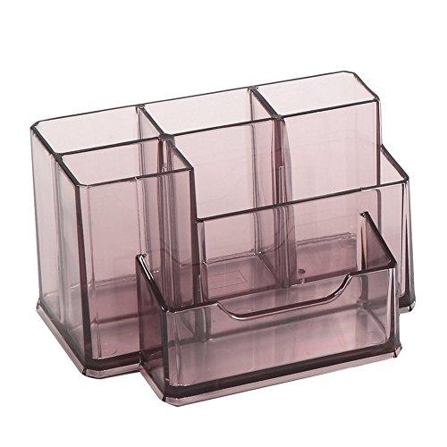 Lumanuby 1x Tisch Organizer von 6 Halter Kunststoff Transparente Stifteköcher fur Bleistifte/Lineale/Visitenkarte 15.4*10.5*8.5cm, Stifthalter Serie Series 15.4