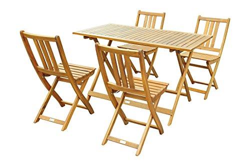XXS Gartengruppe | Gartenmöbel | Balkongruppe | Massives Akazienholz | FSC 100% zertifiziert | 1 x...