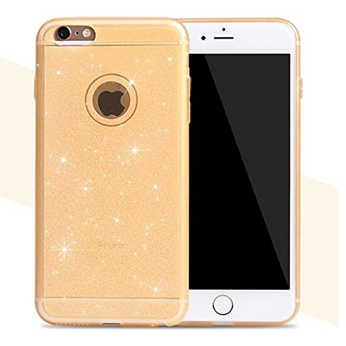 "Coque Bumper Cover iPhone 6 / 6s ( 4,7 pouces ) 4.7"" - Paillette strass glitter bling luxe fete THEcoque DESIGN case - Gris OR"
