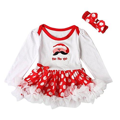 Weissman Kostüm - Rufei Baby Mädchen Weihnachten Kleinkind Prinzessin Fancy Kostüm Tutu Kleid Outfits Set. (Weiß-man, 90cm/6-12 monat)