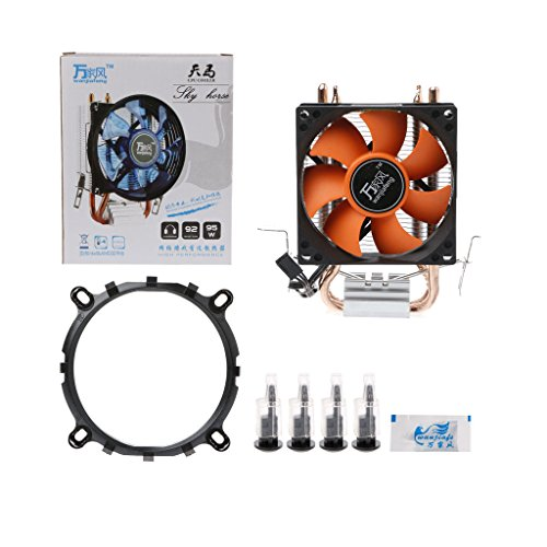 LIskybird 2 Heatpipe Aluminium PC CPU-Kühler Lüfter für Intel 775/1155/1151 AMD 754/AM2 -