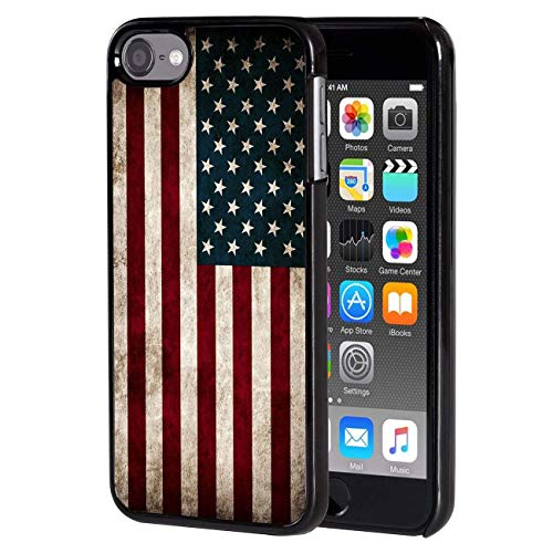 ipod Touch 6 case, Slim Back Cover Hard Plastic Protector Case Stylish Design for Apple iPod Touch 6th Generation - American Flag Design-protector Hard Case