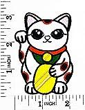 Cute maneki-neko Japan japanische Lucky Cat Cartoon Patch Hand bestickt und Bügelbild Symbol Jacke T-Shirt patches aufnäher Zubehör