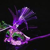 Rokoo Mode Frauen LED Masken Halloween Maskerade Partei Kostüm Requisiten Damen Mädchen Prinzessin Feder Maske
