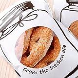 Sunwords 100Pcs Cute Bottle Pattern Self Adhesive Candy Cookie DIY Baking Cake Cello Bag