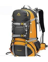 Senderismo al aire libre de gran capacidad cubierta para la lluvia mochila 40L , yellow