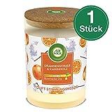 Air Wick Duft-Stimmungskerze Orangenschale & Kaminholz, 1er Pack (1 x 185 g)
