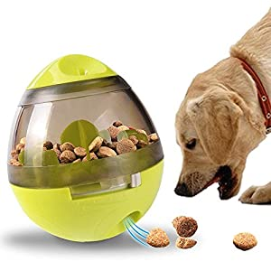 Sanlinkee Boule de nourriture pour animaux Pet Feeder Nourriture pour chien Balle Balle Distributeur de nourriture pour chien Distributeur d'alimentation pour chiot d'entraînement pour animal domestique, chiens et chats Snack Dispenser jouet IQ Treat Ball