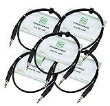 Pronomic Stage INSTS-1 câble jack 1 m stéréo, lot de 5