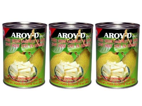 Aroy-D - Grüne Jackfruit - 3er Pack (3 x 565g / ATG 280g)