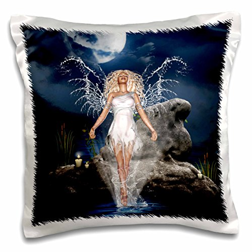 3dRose Spooky Halloween Town mit Flying Witch-Pillow Fall, 16von 40,6cm (PC 172236_ 1)
