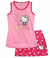 Hello Kitty Tank Top with Skirt | Set for Girls 7-8 Years | Pink