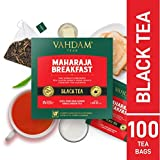 Tè nero all'inglese da colazione (100 bustine di tè) | ALTA ENERGIA E CAFFEINA - Sostituzione del caffè salutare | Bustine di tè nero forti, robuste e saporite | ANTIOSSIDANTI RICCO