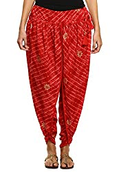 9raas Women Cotton Hand Block Printed Dhoti Pants