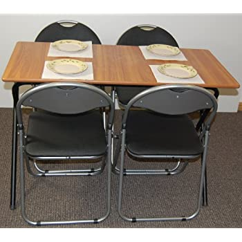Folding Dining Set Drop Leaf Table And Chairs Butterfly