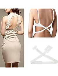 Veewon BH Verlängerung BH-Verlängerer Erweiterung Rückenfrei Rückenkonverter - Weiße Farbe