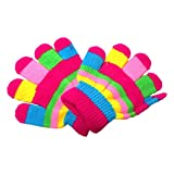 #6: DCS (14)Woolen Safety Colorful Baby's Hand Gloves(Blue)(2-3 Years)