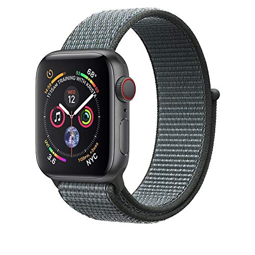 Corki für Apple Watch Armband 38mm 40mm, Weiches Nylon Ersatz Uhrenarmband für iWatch Apple Watch Series 4 (40mm), Series 3/ Series 2/ Series 1 (38mm), Sturmgrau