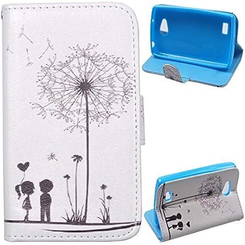 Voguecase® LG Joy Funda Carcasa Cuero Tapa Case Cover(Los jóvenes enamorados) + Gratis aguja de la pantalla stylus universales