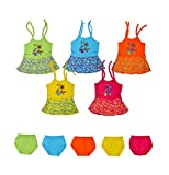 #5: Sathiyas Baby Girls Dresses (Pack of 5) (0-3 Months)