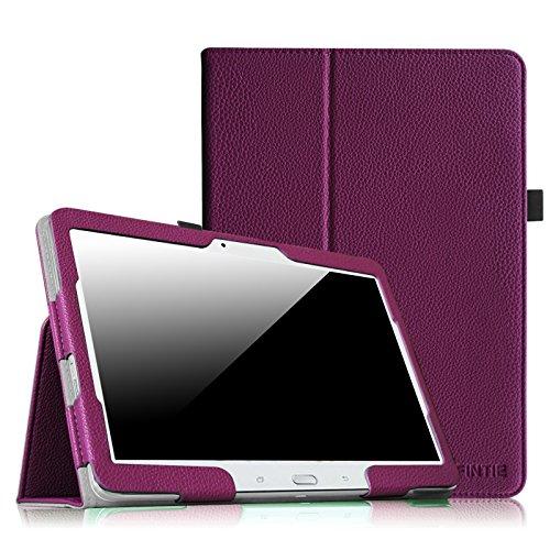 Fintie Hülle Case für Samsung Galaxy Tab 4 10.1 SM-T530 SM-T535 Tablet - Slim Fit Folio Kunstleder Schutzhülle Cover Tasche mit Auto Schlaf/Wach Funktion, Lila (4-tablet-cover Tab)