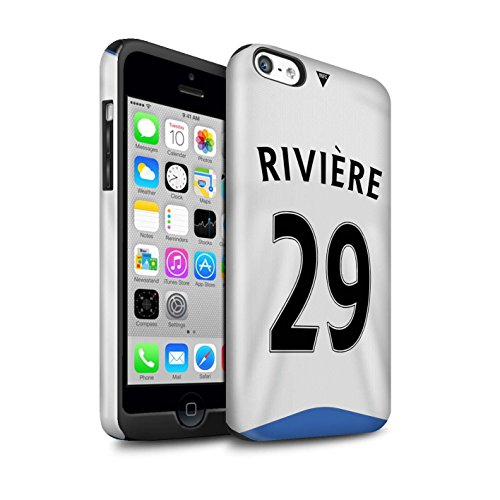 Offiziell Newcastle United FC Hülle / Glanz Harten Stoßfest Case für Apple iPhone 5C / Pack 29pcs Muster / NUFC Trikot Home 15/16 Kollektion Rivière