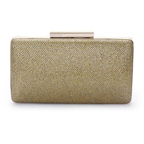 Audixius Edle Damen Glänzend Pailletten Party Clutch Abendtasche Gold