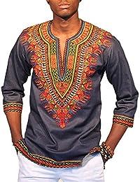 12408a528ff PengGengA Camiseta Estampada Tribal Africana Tradicional del Modelo para  Los Hombres