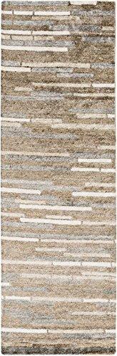 SURYA plat-9008Platinum Zeitgenössische Abstrakt Beige 2'15,2cm X 8' Bereich Teppich