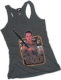 Rey Staff -- Star Wars Ep VII: The Force Awakens Adult Racer Back Tank Shirt