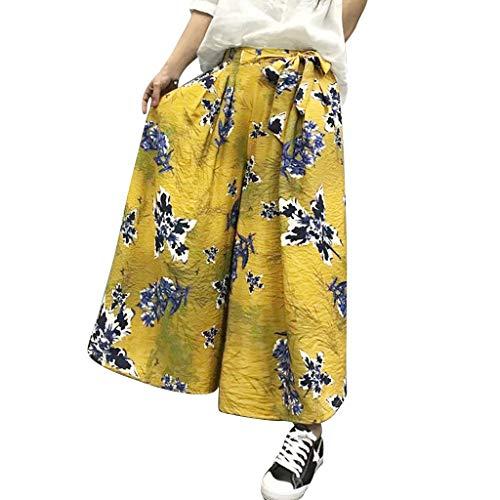 Pantalones amarillos para mujer Casual