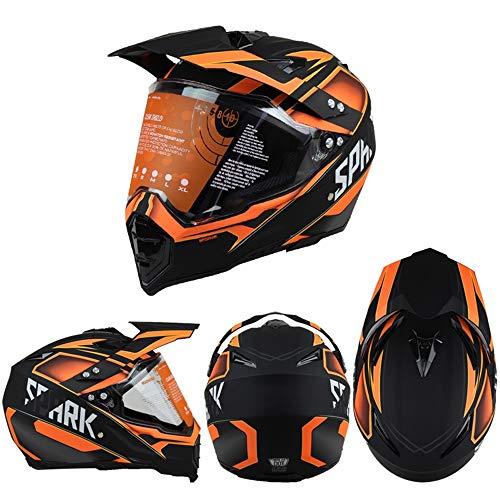 ZDHG Casco Moto,Casco Motocross,Casco Cross Clásico