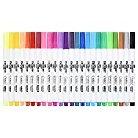 Stationery Island Fabric Pens - 2mm Permanent Fabric Markers Pack of 24