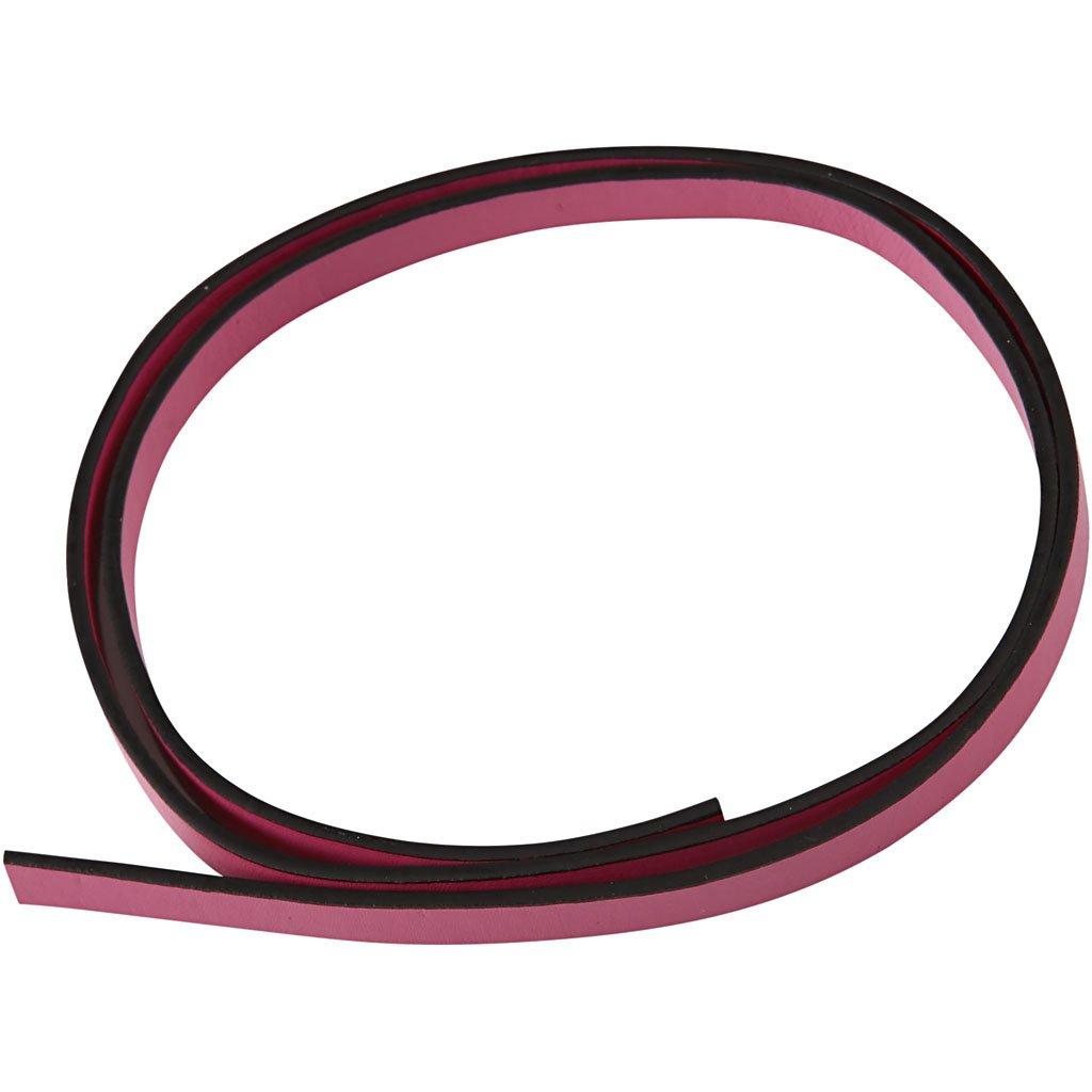 Cintura di finto cuoio, l: 10 mm, rosa, 1m