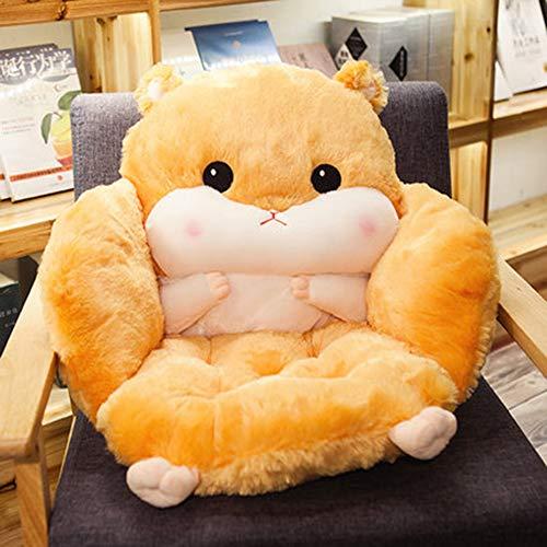 Yxian Taille Rückenlehne Pad Sitzkissen Kaschmirwolle warm halten, Beste Kissen für Heim/Büro Stuhl, Autositz,D,55x39x45cm(22x15x18)