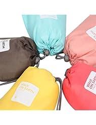 8pcs Sac à Cordon Rangement Stockage en Nylon, Aipark Organisateur en Plein Air pour Vêtement Maquillage Magazine Voyage Camping (couleurs aléatoires)