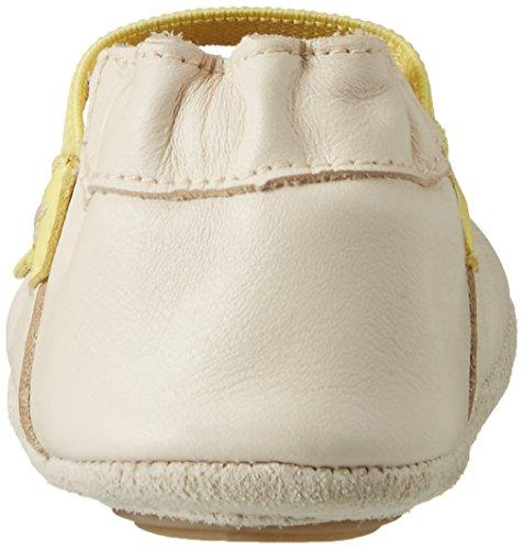 Robeez Tiare, Chaussures de Naissance Bébé Fille Blanc (Blanc Cassé)