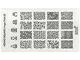 KONAD Stamping Schablone XL 08