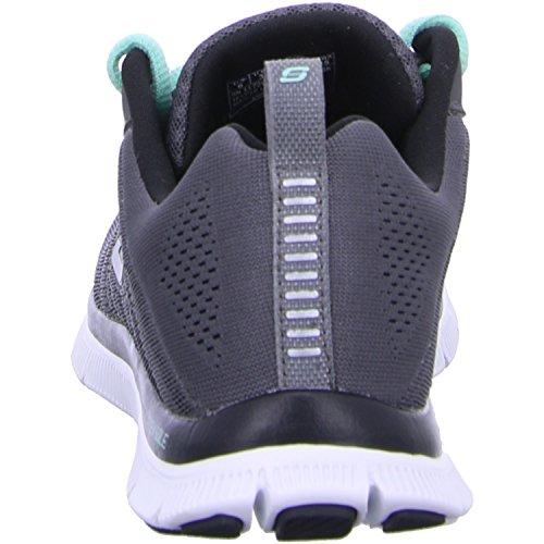 Skechers Flex Appealsweet Spot, Sneakers Basses Femme Gris - 20 Charcoral