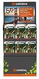Gardena Grundausstattungs-Aktion, Anschluss-Set mit Reinigungsspritze mit Anschlussteilen für 13 mm (1/2 Zoll)- und 15 mm (5/8 Zoll)-Schläuche