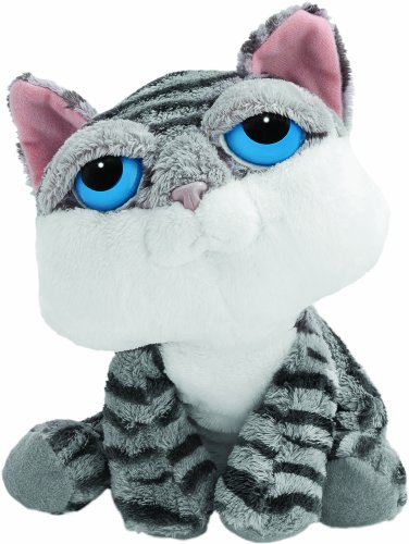 Suki Plush Cat (Small, Grey/ Jasmine)