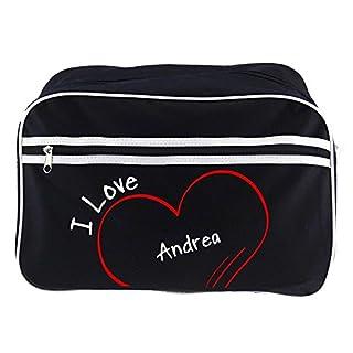 Retro Modern I Love Andrea Black Shoulder Bag