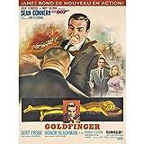 Fabulous Poster Affiche Vieille Affiche Française de Film Goldfinger Rétro Poster Cinéma Vintage 42x59cm