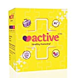 #1: Active Ultra (XL+) Healthy Hamesha Sanitary pads for women Combo of 2 Boxes (36 pads) (Size- 320mm)