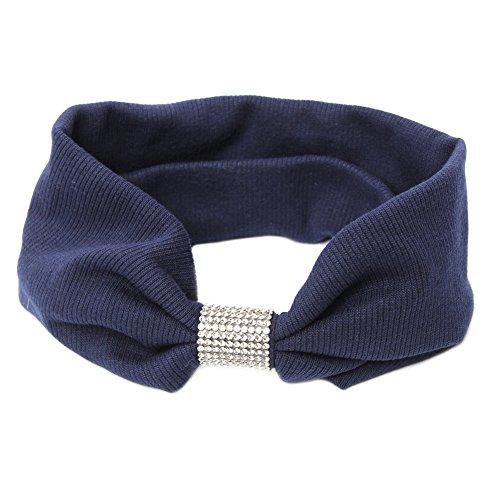 JUSTFOX - Haarband mit Strass (blau) (Blau-polyester-mischung)