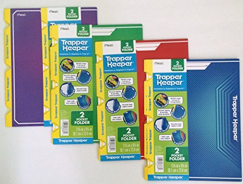 4-pack-snapper-trapper-keeper-2-pocket-portfolios-purple-red-green-and-blue-by-mead