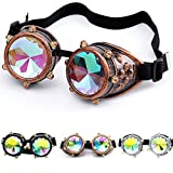 Clearance Sale!OverDose Ins Hot Vintage Kaleidoscope Colorful Glasses Rave Festival Party EDM Sunglasses Diffracted Lens(#3)